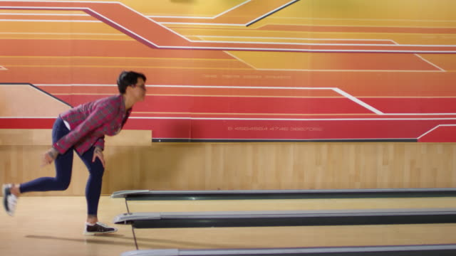 Mature Woman Playing Bowling