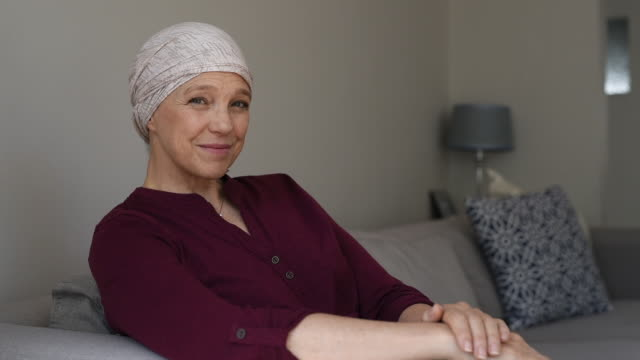 Mature woman suffering from cancer