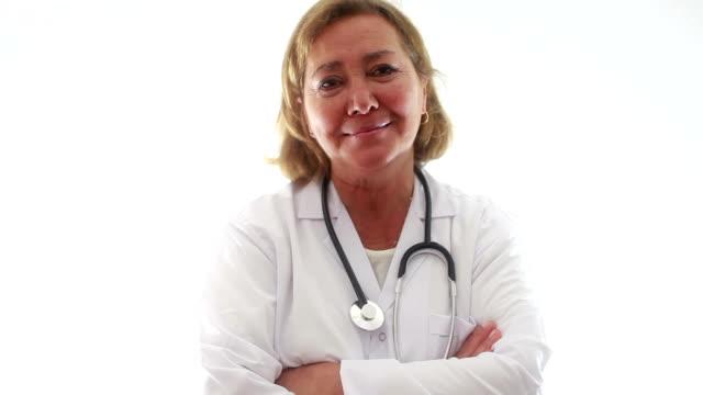 HD: Mature Women Doctor Portrait video