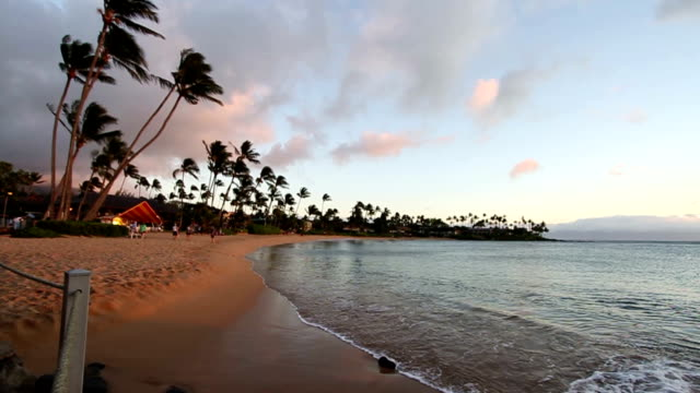 Maui Hawaii Napili Beach at Sunset video