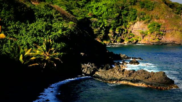 Maui Rocky Volcanic Beach video