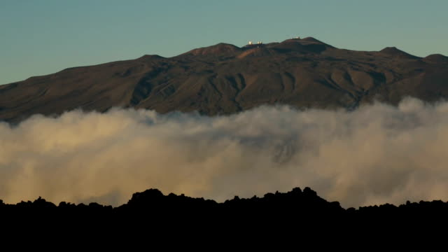 Mauna Kea, Clouds and Lava Fields video