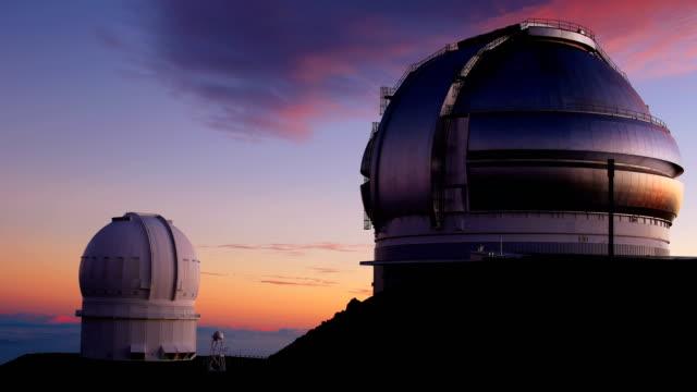 マウナケア observatories - ハワイ点の映像素材/bロール