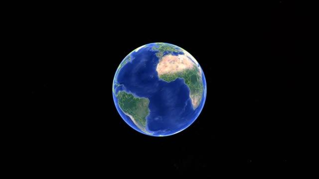 mauritius con bandiera. terra 3d nello spazio - ingrandisci l'esterno di mauritius - isole mauritius video stock e b–roll