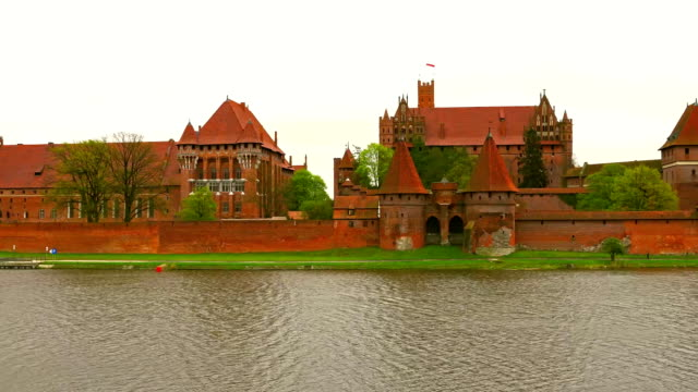 MALBORK, POLAND - May 07 2017: Malbork, Marienburg castle. Zoom. video