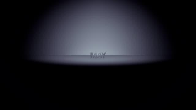 vídeos de stock e filmes b-roll de pode mês horizonte de zoom - maio