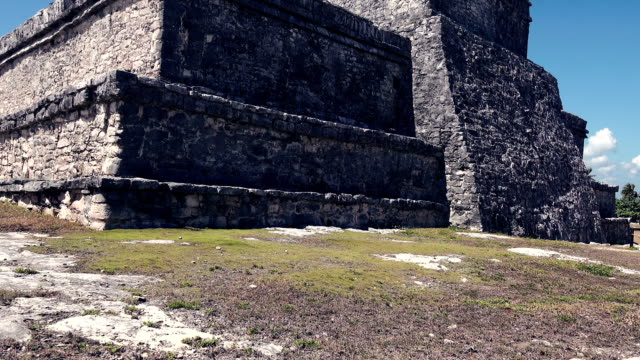 Mayan Ruins - Stone Monolith Closeup video