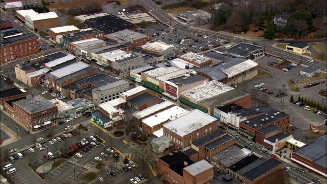 mayberry - Aerial View - North Carolina,  Surry County,  United States video