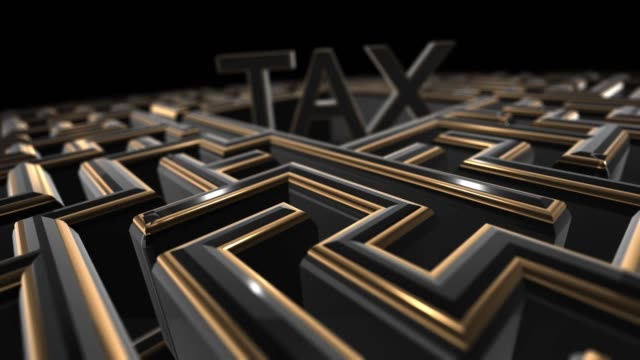 Maze 3d render conceptual to solve complex tax regulation labyrinth