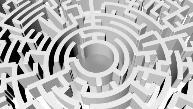 Maze background, 3d rendering illustration
