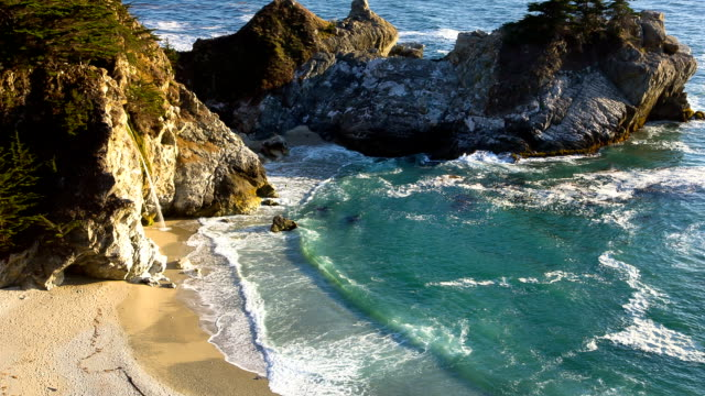 Mcway Falls  at Big Sur CA video
