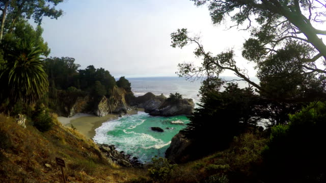 McWay falls in Big Sur Park video