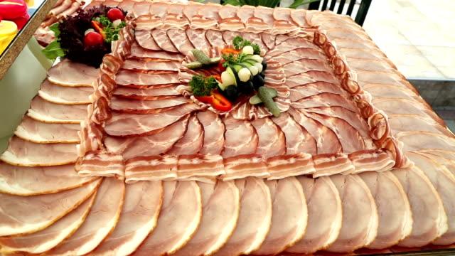 meat delicatessen plate video