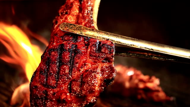 meat on barbecue grill - grilling stock videos & royalty-free footage