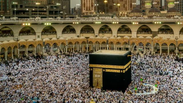 mekka: saudiarabien - pilgrimsfärd bildbanksvideor och videomaterial från bakom kulisserna