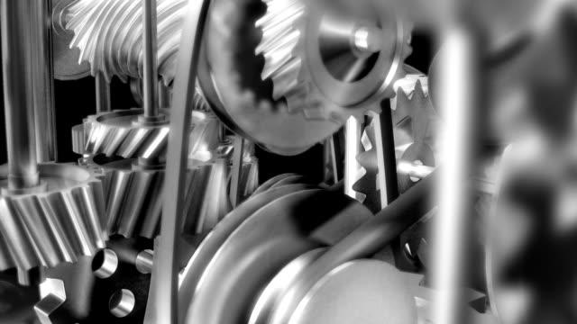 mechanik koła zębate - dźwignia zmiany biegów filmów i materiałów b-roll