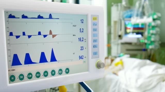 stockvideo's en b-roll-footage met mechanische ventilatie van de longen - ventilator bed