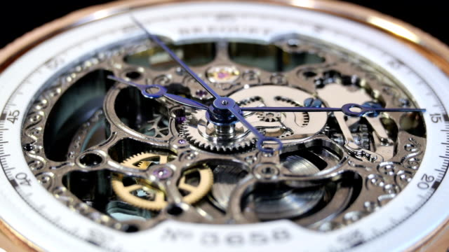 mechanical watches from the inside - maskindel bildbanksvideor och videomaterial från bakom kulisserna