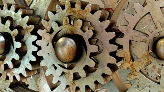 さび歯車のメカニズム - 錆びている点の映像素材/bロール