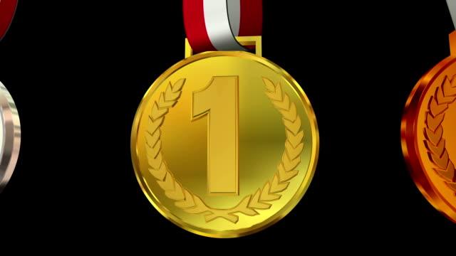 受賞トロフィーメダル - メダル点の映像素材/bロール