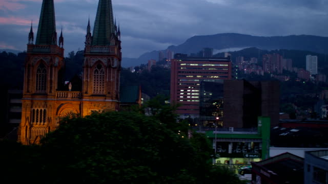 Medellin City Center at Night, Colombia video