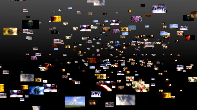 Media screens scifi Digital animation of HD TV screens.Films and animation created exclusively for iStockphoto multimedia stock videos & royalty-free footage