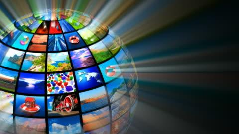 concetto di tecnologie multimediali - concetti e temi video stock e b–roll