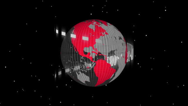 Media TV Animation Graphic Title,Covid-19 world news on black background. video