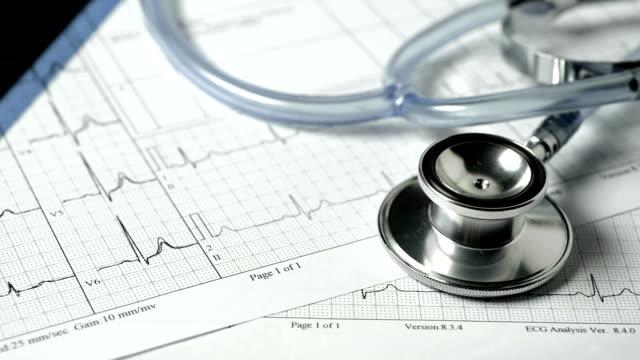 医療チャート - 聴診器点の映像素材/bロール
