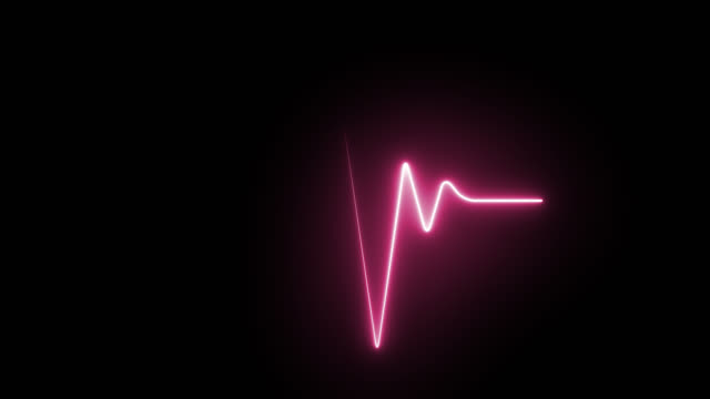 Medical ECG concept animation 4k on alpha channel