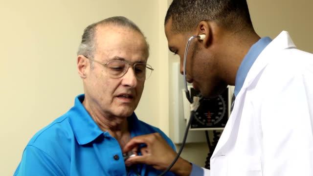 Medical Exam - Senior Man CU video