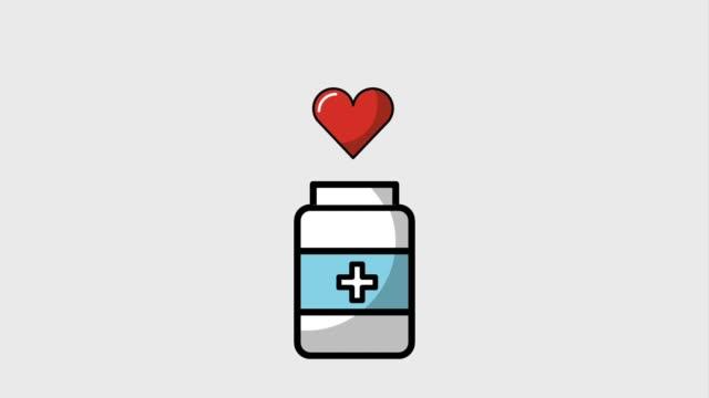 医療健康的なライフ スタイル - ビタミン類点の映像素材/bロール
