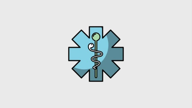medical healthy lifestyle - ancient medical symbol video stock e b–roll