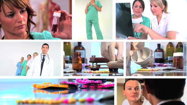 medical montage - cerrahi önlük stok videoları ve detay görüntü çekimi