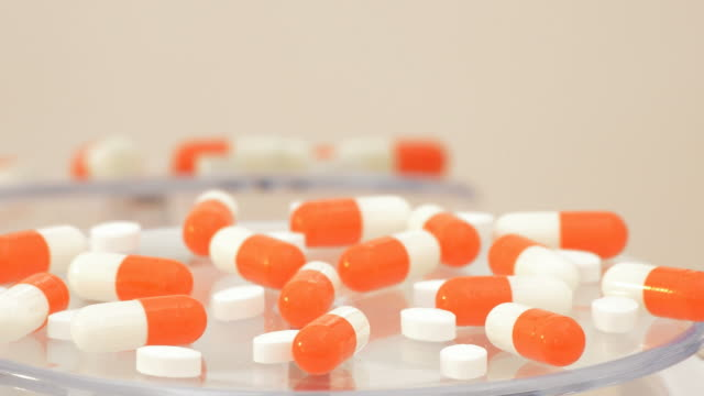 Medical pills and tablets rotating video