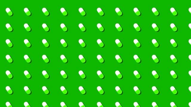 medical prescription pills background loop green and white medical prescription pills background loop antibiotic stock videos & royalty-free footage