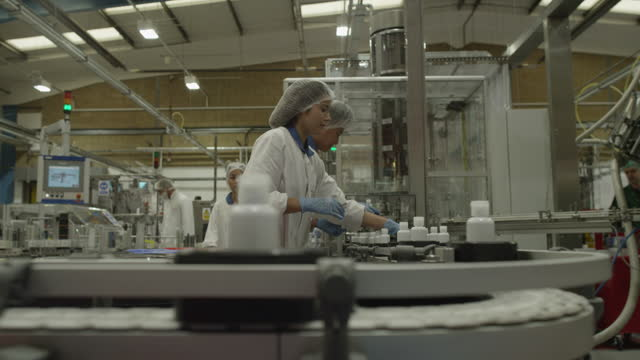 Medical Product Manufacturing Industrial Factory and Workers video