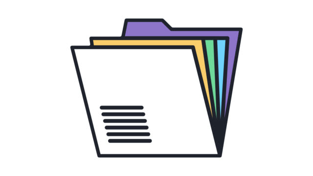 Medical Record Flat Line Icon Animation with Alpha