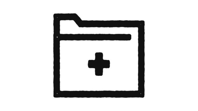 vídeos de stock e filmes b-roll de medical records icon animation footage & alpha channel - dossier