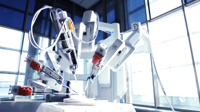 medical robot - apparecchiatura medica video stock e b–roll
