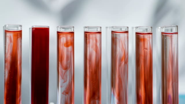 Medical scientist observing reaction in test tubes, doing research, science Medical scientist observing reaction in test tubes, doing research, science blood clot stock videos & royalty-free footage