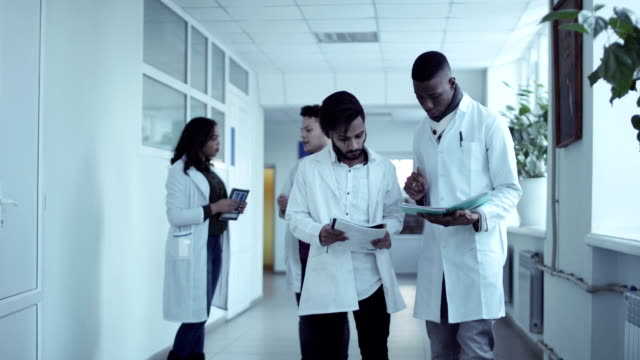 Medical students in hospital video