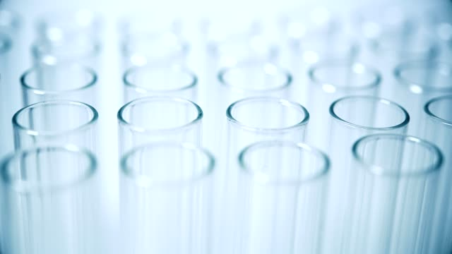 Medical test Tubes 4k video of sliding empty medical test tubes biochemistry stock videos & royalty-free footage