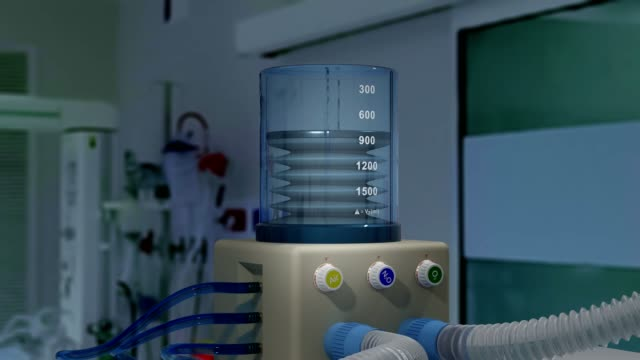 tıbbi ventilatör - alfa kanallı döngüye tabi video - oksijen stok videoları ve detay görüntü çekimi