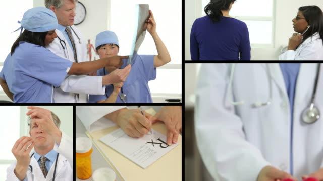 medical video montage - cerrahi önlük stok videoları ve detay görüntü çekimi