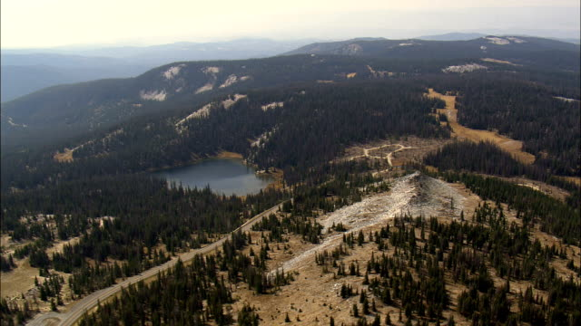 Medicine Bow Mountains  - Aerial View - Wyoming, Albany County, United States video
