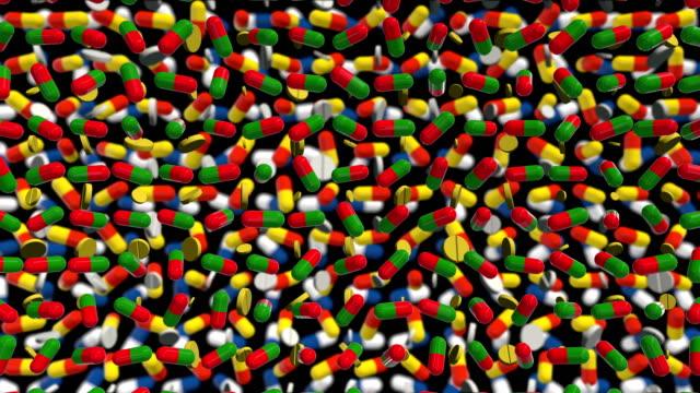 Medicine capsules Background video