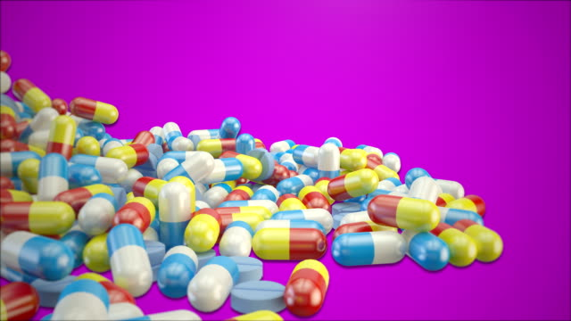 Medicine falling video