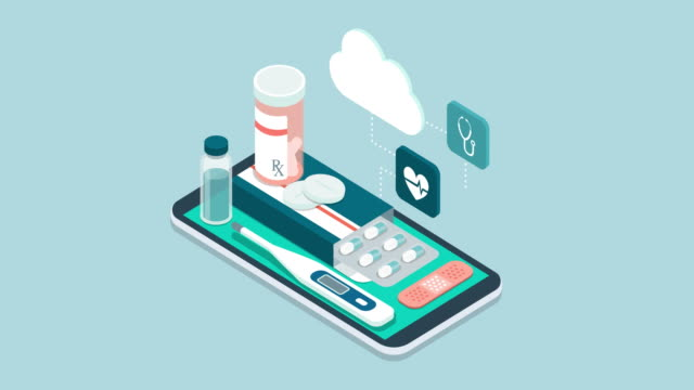 medicine, healthcare and therapy app - telemedicine stock videos & royalty-free footage