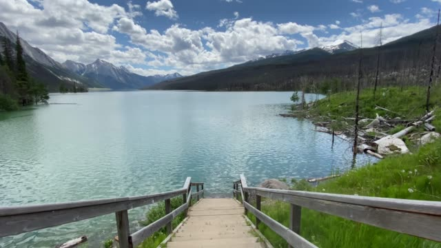 Medicine Lake, Jasper National Park in Alberta, Canada